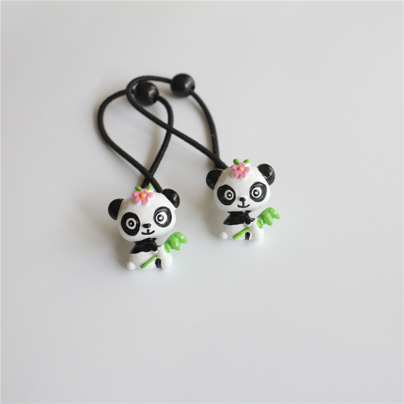2 PCS New Cute Little Panda Princess Headwear Kids Elastic Hair Bands Baby Headdress Children Hair Ropes Girls Hair Accessories