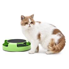 Interaktywna zabawka dla kota z obrotową myszą do biegania i mata do drapania dwóch w jednym złap podkładkę treningową do kociak tanie tanio Myszy i zwierząt zabawki cats Z tworzywa sztucznego