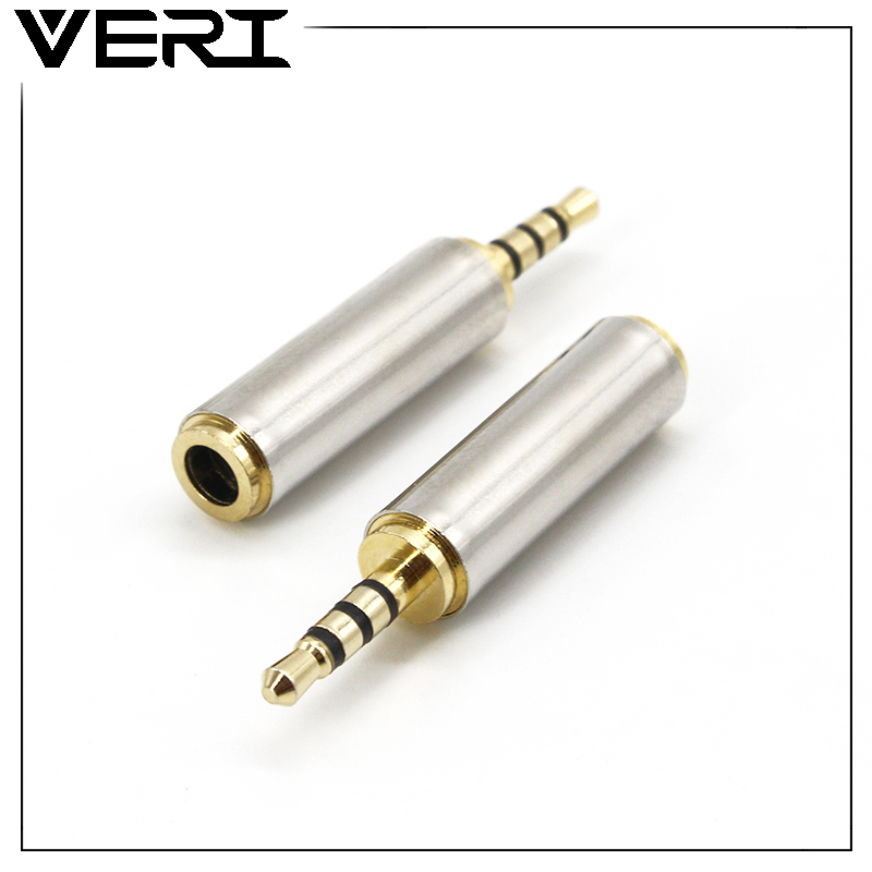 2.5mm to 3.5mm Converter Male to Female Stereo Full Metal Earphone Audio Headphone Adapter Connector Converter Universal