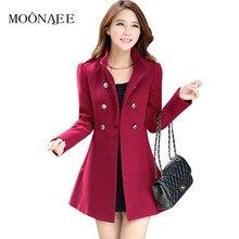 Весна зима новое длинное шерстяное пальто женское корейское тонкое женское тонкое шерстяное пальто Верхняя одежда размера плюс QY15080306