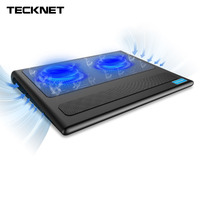 TeckNet Portable Laptop Notebook Cooling Pad Stand 2 Fans USB Quiet Laptop Cooler Fits 9 16