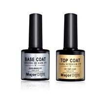 Фотография 12ML New Nail Gel Polish Soak Off UV Top Coat + Base Coat Gel Polish Long-lasting Nail Gel Lacquer