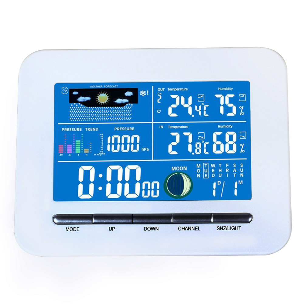 Digital LCD Display Wireless  Electronic Temperature Humidity Meter Weather Station Indoor Outdoor Thermometer Humidity digital indoor air quality carbon dioxide meter temperature rh humidity twa stel display 99 points made in taiwan co2 monitor