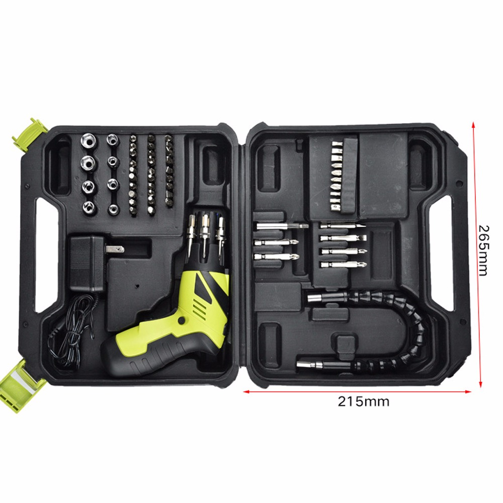 цена на 3.6V lithium battery hand electric drill bit wood cordless drill electric screwdriver with carry case suitcase power tool set