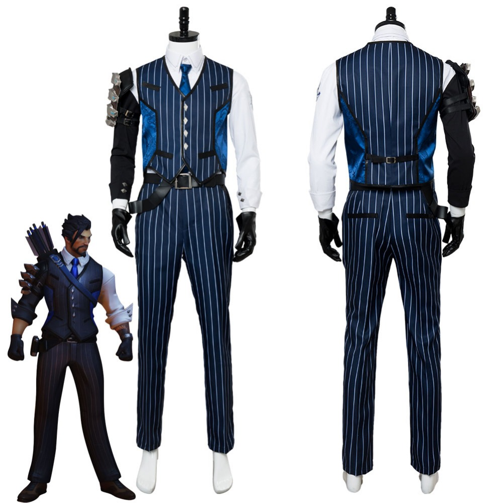 OW Cosplay Costume Shimada Hanzo Cosplay Costume Suit Adult Men Halloween Carnival Costumes