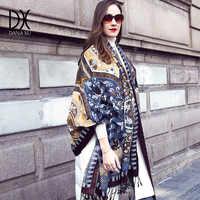 新しい冬のスカーフ高級ブランドパシュミナカシミヤポンチョ毛布スカーフラップウールスカーフ女性バンダナイスラム教徒ヒジャーブショール