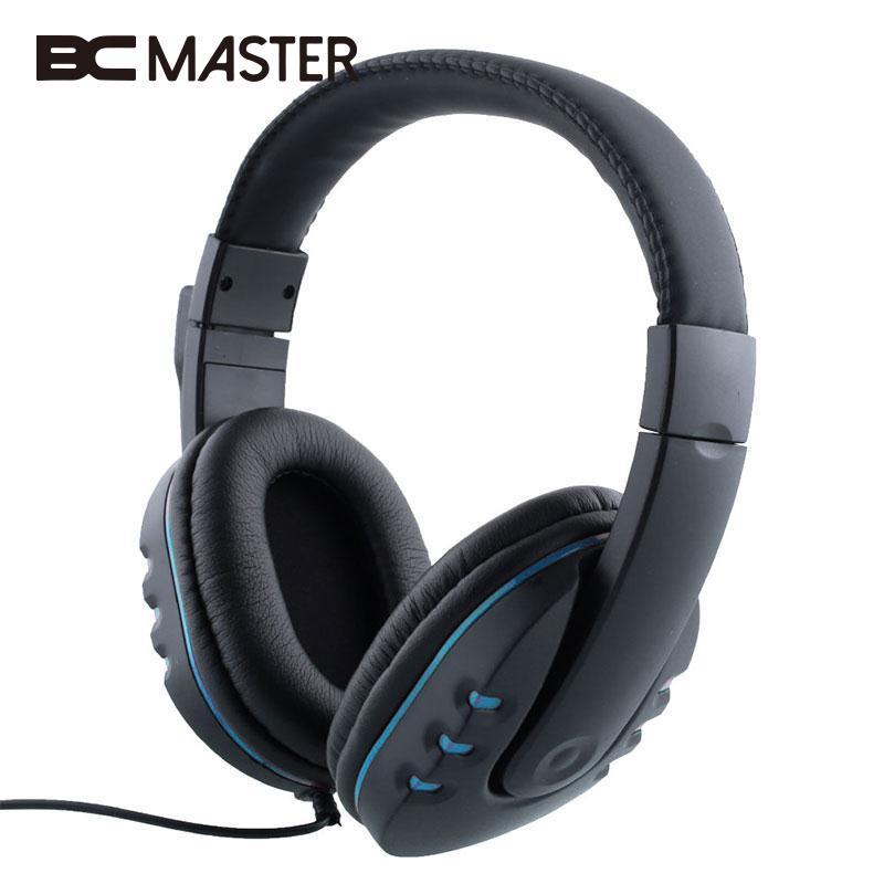 BCMaster Gaming Headset PC Gamer Stereo Bass Over-Ear Gaming Headphone With Mic Microphone For Computer Game Earphone rock y10 stereo headphone microphone stereo bass wired earphone headset for computer game with mic