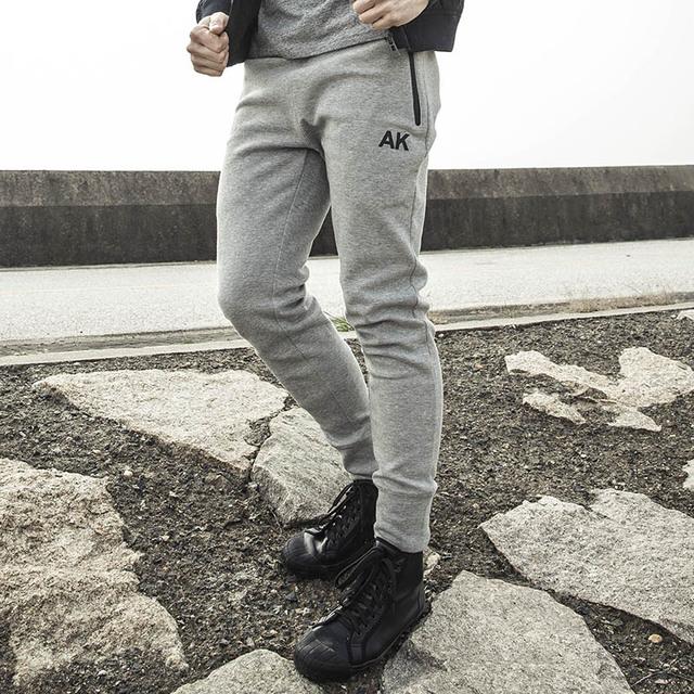 CLUBE AK Sweatpants Marca À Prova D' Água Imprimir o Logotipo Do Tecido Grosso Moletom Com Cordão Ajustável Cintura Bolsos Com Zíper Lateral 1612031
