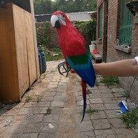 Large 60cm Colourful Macaw Bird Model Foam Feathers Simulation Parrot Bird Handicraft Home Garden Decoration Gift
