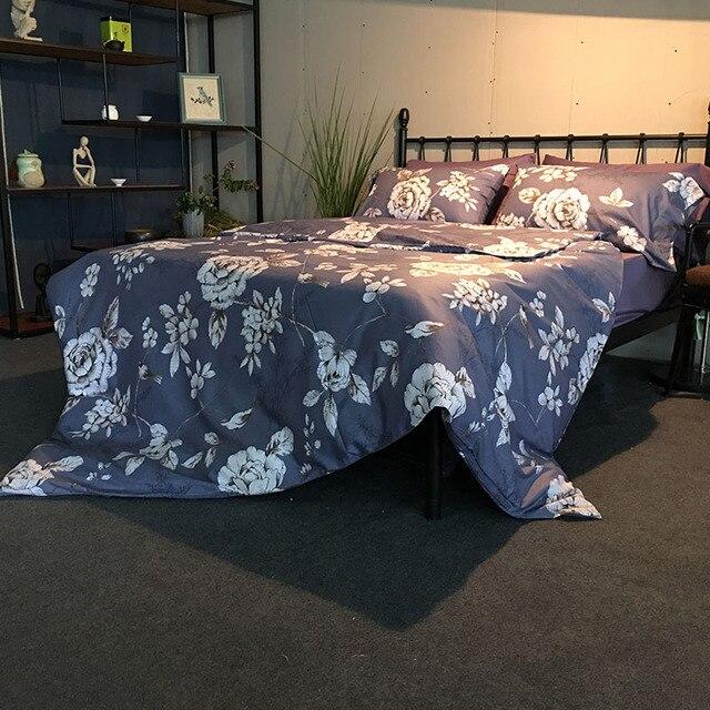 58662d274b Casa tessili di cotone 4 pezzo set biancheria da letto queen size lenzuola  stampa floreale copripiumino