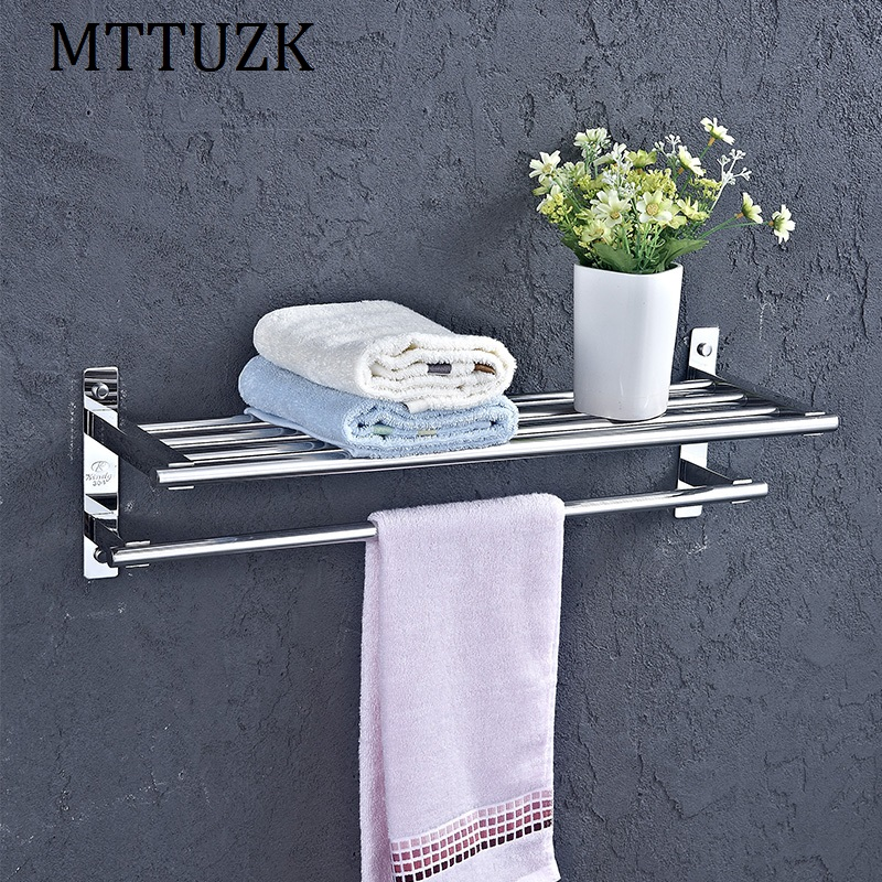 MTTUZK Free shipping DIY 304 stainless steel Bath Towel Rack Bath Towel Holder Towel bar Bathroom racks Shelves 100% new for xiaomi 2 m2 mi2 2s lcd display touch screen digitizer assembly with frame mobile phone replacement psrts with tools
