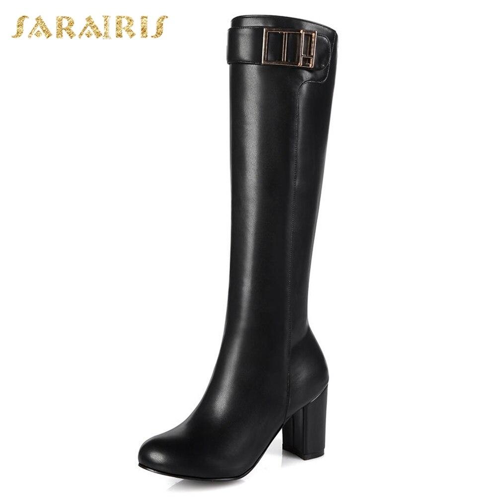 Sarairis Grandes Moda 45 Superior 32 Altos Tamaños Botas De Tacones 2018  Calidad Apricot Zapatos marrón Señora Montar Mujeres ... 0a0c329be9f5
