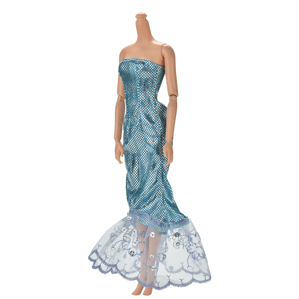 Fashion Sequin Flower Embrodiery Dress For Barbie Doll Fashion ...