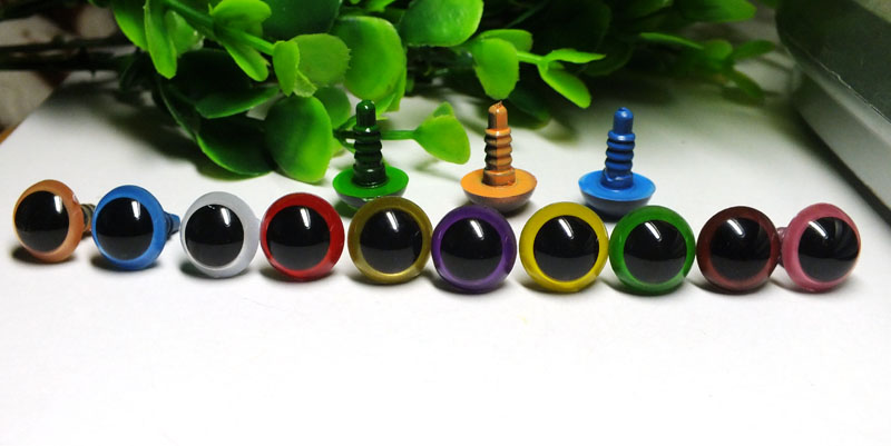 Free Ship !!!  5-18mm Mixed  Color Animal Eyes Safety Eyes-100pcs