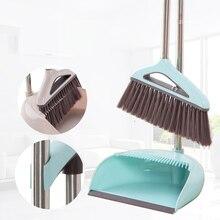 Качество Метла Совок костюм Складной бытовой чистящие инструменты пластик метла ПП сочетание мягкие волосы чистая беспыльный помощник наборы