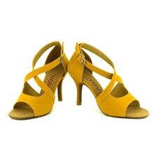 YOVE Dance Shoes Women's Latin/ Salsa Dance Shoes 3.5″ Slim High Heel More color w1610-10