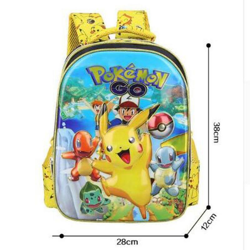 Anime Pokemon Daily font b Backpack b font Boys Girls School Bags Pikachu Prints font b