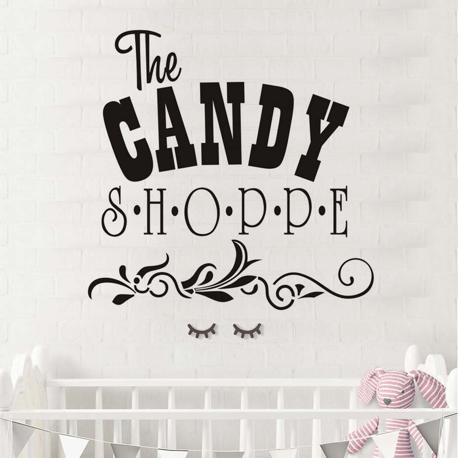 The Candy Shoppe Quotes Wall Sticker Lace Design Diy