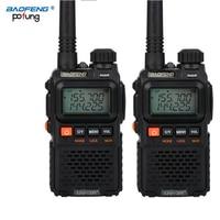 מכשיר הקשר שני 2 PCS Baofeng UV-3R פלוס מיני מכשיר הקשר Ham שני הדרך VHF UHF רדיו תחנת משדר Boafeng סורק נייד ווקי טוקי (1)