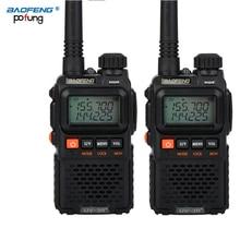 2 PCS Baofeng UV 3R בתוספת מיני מכשיר קשר חם שתי דרך VHF UHF רדיו תחנת משדר Boafeng סורק נייד ווקי טוקי