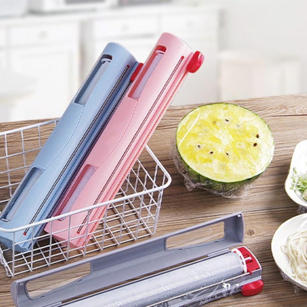 Kitchen Appliances Food Cling Film Cutting Box Dispenser Resuable Preservative Film Cutter Kitchen Storage Accessories Home
