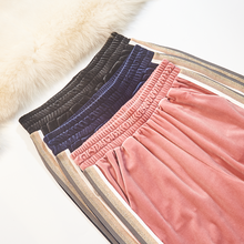 hot deal buy women pants 2018 autumn winter fashion velvet trousers loose wide leg pants elastic high waist harem pants plus size pants woman