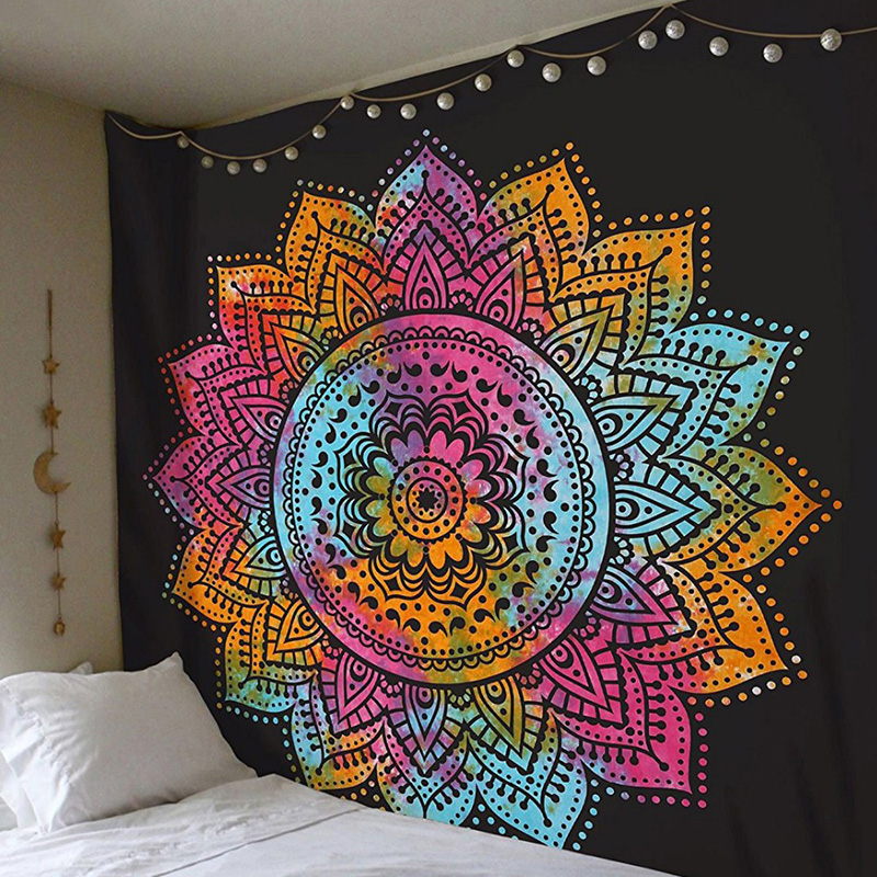 USA Shipping Chic Bohemia Mandala Floral Carpet Wall Hanging Tapestry For Wall Decoration Fashion Tribe Style