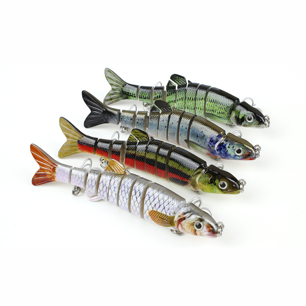 4.5/14.9g New Pike Fishing Lure Multi Jointed Crankbait Super Swimbait Lifelike Hard Fish Bait VMC Hook Tackle Pesca MML12A