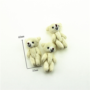 1Pcs 1/12 Dollhouse Miniature Accessories Mini Plush White Bear Simulation Animal Toy Furniture for Doll Home Decoration