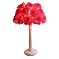 Married rose table lamp bride festive decoration lamp child princess bed lighting