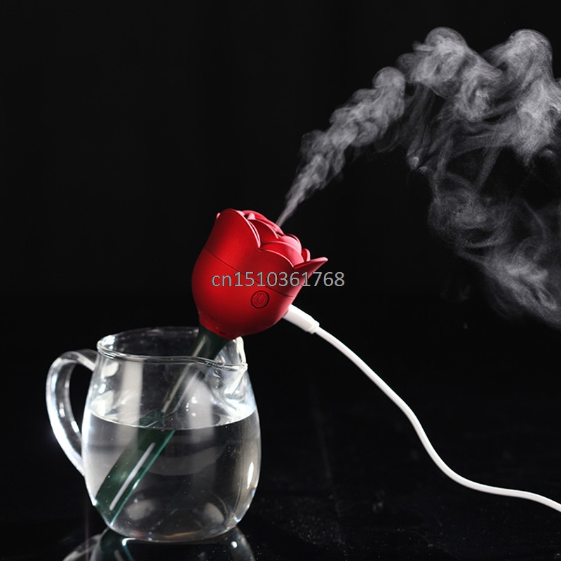 Mini Rose Flower USB Humidifier Air Purifier Aroma Diffuser Atomizer Office Home #Y05# #C05# compact usb humidifier air purifier aroma diffuser white green