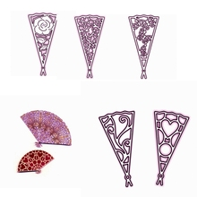 Flower Retro Fans Various Shape Metal Cutting Dies Stencil For Scrapbooking Embossing DIY Paper Card Handcrafts Decor Templates flower retro fans various shape metal cutting dies stencil for scrapbooking embossing diy paper card handcrafts decor templates
