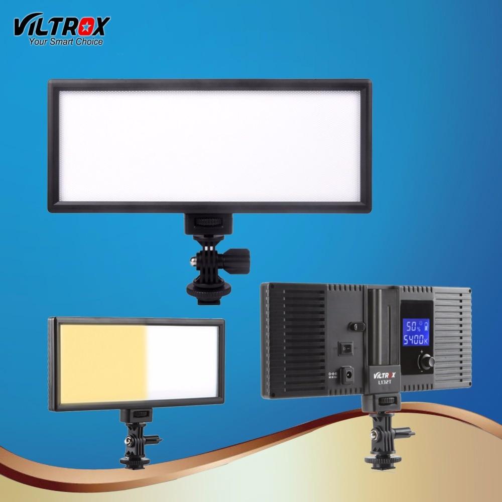 цена на Viltrox L132T LED Video Light Ultra Thin LCD Bi-Color & Dimmable DSLR Studio LED Light Lamp Panel for Camera Photography