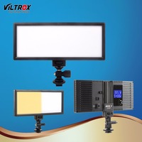 Viltrox L132T LED Video Light Ultra Thin LCD Bi Color & Dimmable DSLR Studio LED Light Lamp Panel for Camera Photography