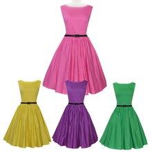 50s retro dress Audrey Hepburn rockabilly women pink dresses plus size vestidos verano mujer 2015 Vestidos Femininos