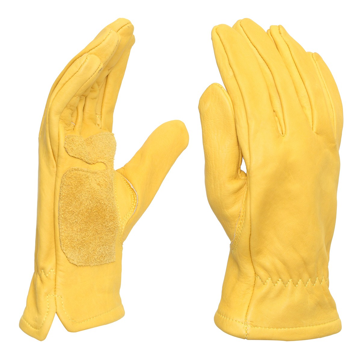 Pair Vintage Motorcycle Bicycle Gloves Yellow Universal Anti-slip Scooter Work Hunting Full Finger Gloves M L XL XXL