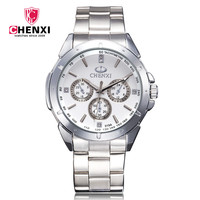 CHENXI Quartzo-relógio de Luxo Da Marca Mulher de Negócios de Moda Relógio de Vestido de Aço Inoxidável relógios para As Mulheres Relógio de Pulso relojes mujer