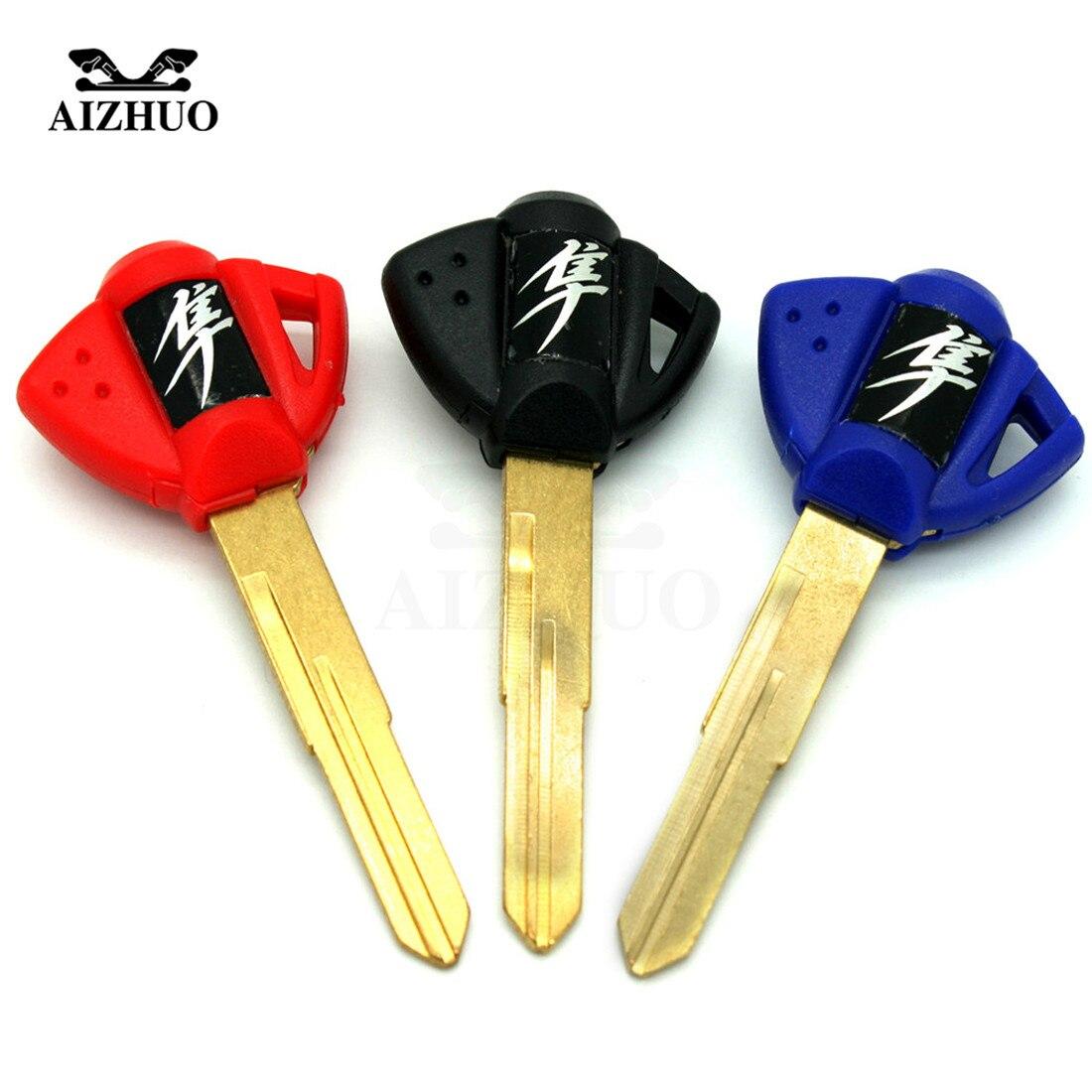 Motorcycle keys Key rings Embryo Uncut Keyring  For Suzuki GSXR1300 GSX 1300 GSX-R 1300 2008 2009 2010 2011 2012 2013 2014 2015