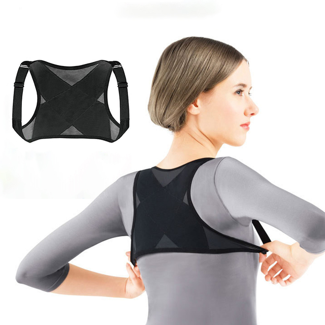 Adjustable Posture Corrector Brace Net Breathable Back Spine Support Belt Humpback Shoulder Women Posture Correction Belt