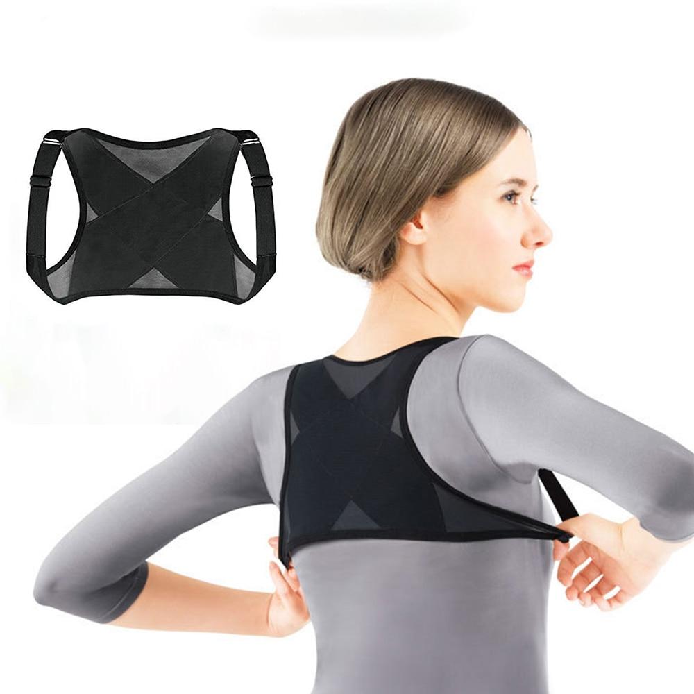 Adjustable <font><b>Posture</b></font> Corrector Brace Net Breathable Back Spine Support Belt Humpback Shoulder Women <font><b>Posture</b></font> Correction Belt