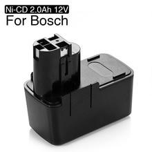 Batería de herramienta de repuesto ni cd, 2000mAh, 12V, para Bosch 12V, 2,0ah, BAT011, BH1214H, BH1214L, BH1214MH, H1214N, B2300