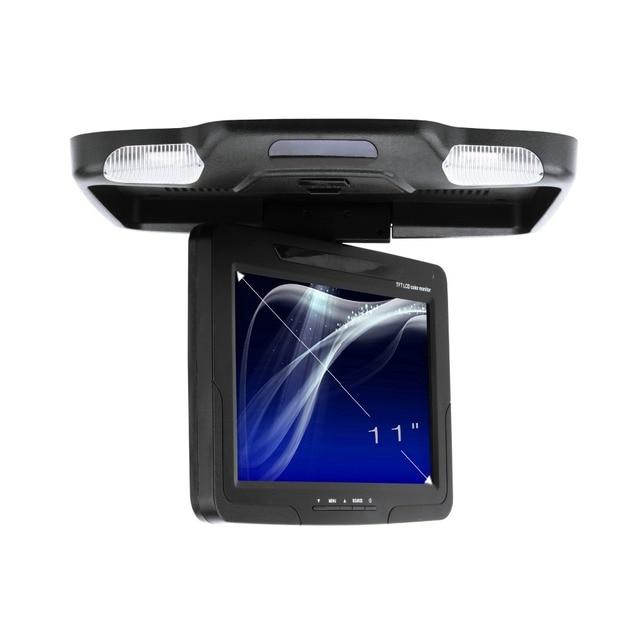 """Melhor qualidade 11 """"polegadas LED tela digital de montagem Do Telhado Monitor Do Carro Flip down Monitor Com MP5/USB função de leitor de cartão"""
