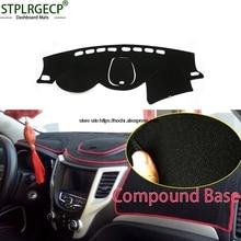 STPLRGECP двойной слой черный тире коврик для changan CS35 2012-2016 Dashmat черный ковер приборной панели автомобиля Автомобильный интерьер коврики