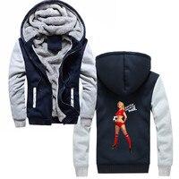 Men'S Fashion Winter Keep Warms Cotton Hoodies Brazil World Rio Top Sexy Pin Up Girl Art Soccers Sweatshirt Cool Jackets Hoody