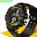 SANDA Men Military Watch LED Digital Watch Fashion Casual G Style Shock Wristwatches Sports Watches Relojes Hombre