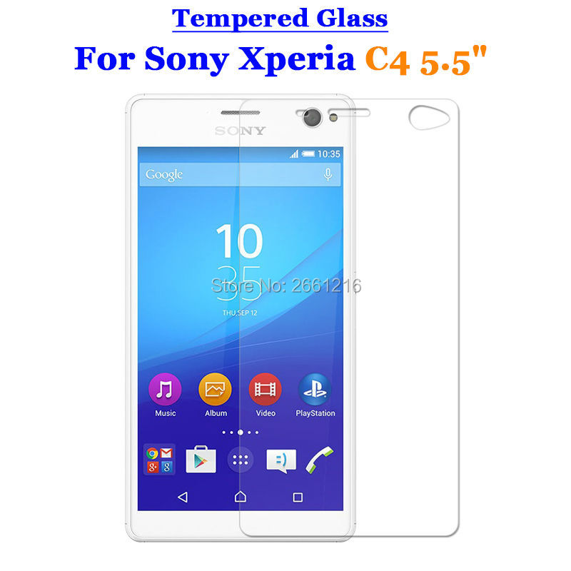 For Sony Xperia C4 Tempered Glass 9H 2.5D Premium Screen Protector Film For Sony Xperia C4 & C4 Dual 5.5