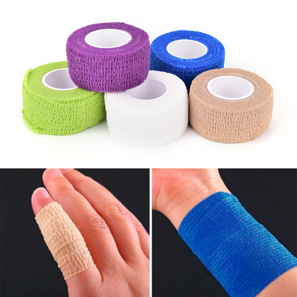 1Pcs Waterproof And Breathable Practical Self-Adhering Bandage Wraps Elastic Adhesive First Aid Tape 4.5*2.5cm