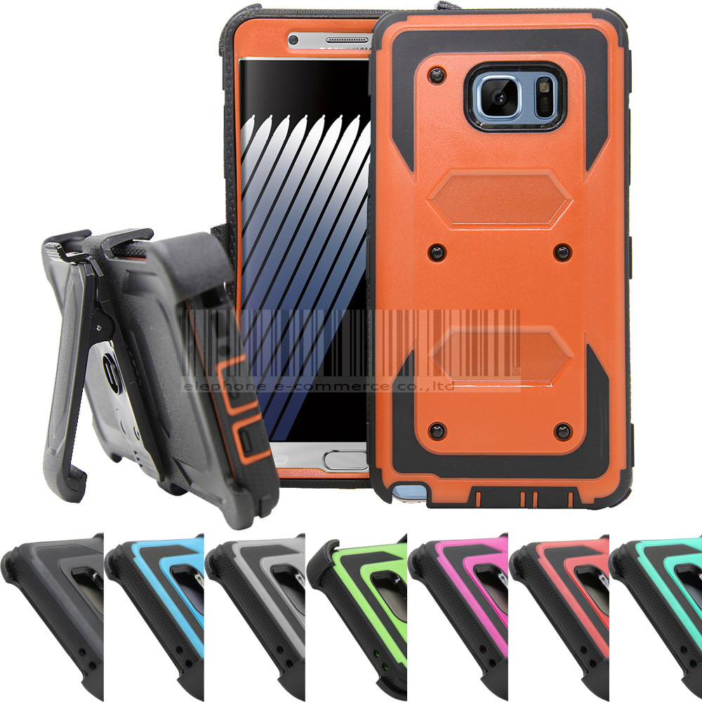 For Samsung Galaxy Note 7 Impact Protective Heavy Duty Hybrid Armor Case Belt Clip Holster Cover For Samsung Galaxy Note FE 2017