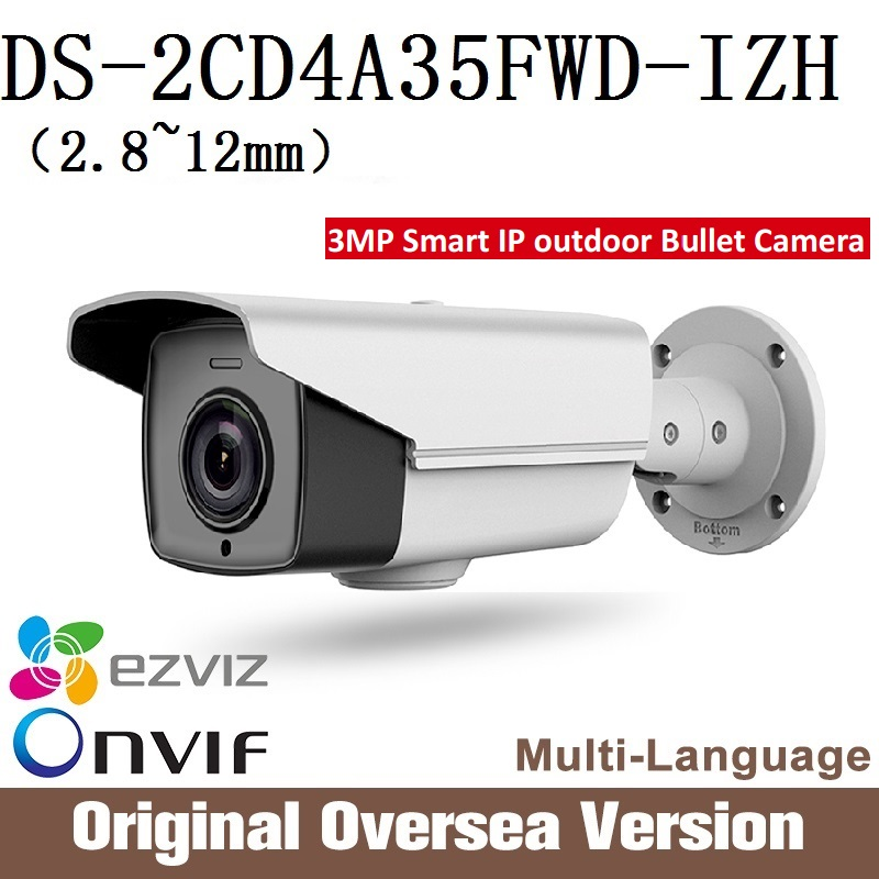HIKVISION Ip Camera DS-2CD4A35FWD-IZH darkfighter smart Cctv Bullet 1080p Poe Ip67 da hua English Version H265 WDR Onvif RJ45 hikvision ds 2de7230iw ae english version 2mp 1080p ip camera ptz camera 4 3mm 129mm 30x zoom support ezviz ip66 outdoor poe