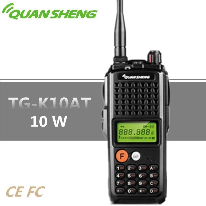 Original Quansheng TG-K10AT Walkie Talkie 10W High Power CB Radio 4000mAh UHF VHF for option Baofeng 10W Woki Toki UV-5R UV-82 Original Quansheng TG-K10AT Walkie Talkie 10W High Power CB Radio 4000mAh UHF VHF for option Baofeng 10W Woki Toki UV-5R UV-82